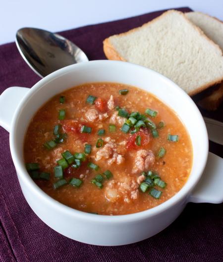 Густой суп с индюшиным фаршем и чечевицей