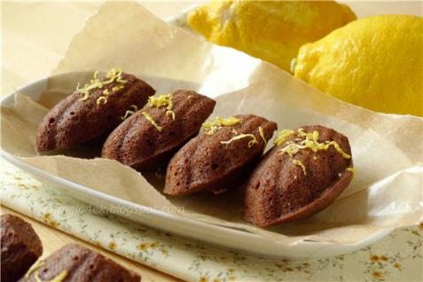 Рецепт - Шоколадно-лимонные мадленки