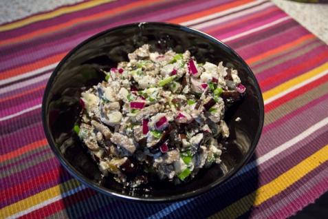 Рецепт - Салат из баклажанов с фетой