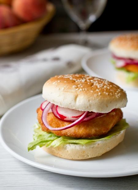 Сэндвичи с куриным филе в хрустящей панировке