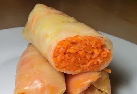 Маринованные голубцы с морковкой (видео)