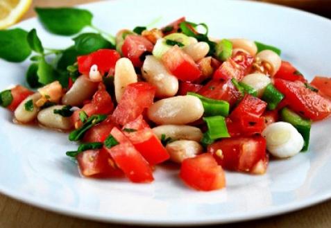 Постные блюда: Фасолевый салат