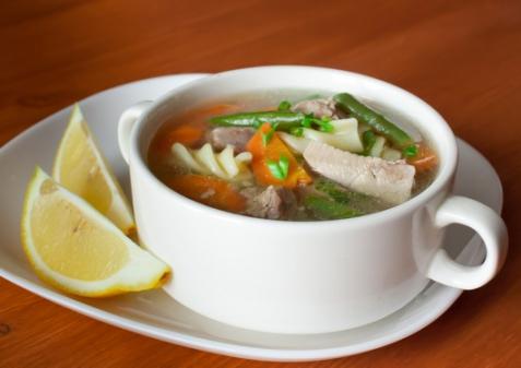 Суп из индейки с макаронами