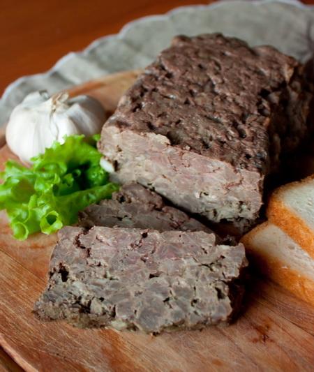 Террин из свинины с куриной печенью