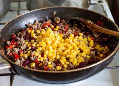 + фасоль и кукуруза
