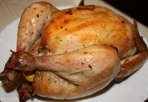 Курица, запеченная с лимоном и розмарином