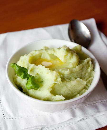 Базиликовое картофельное пюре
