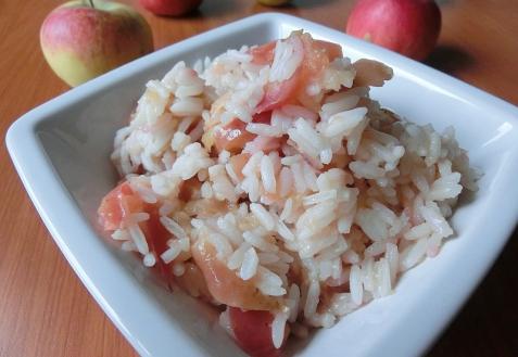 Рис с яблоками