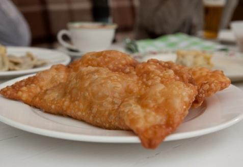 Постные блюда: Чебуреки с капустой