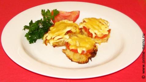 Рыба с томатами под сыром - рецепт