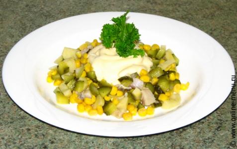 Салат из сельди - рецепт