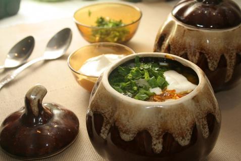 Суп из домашних пельменей