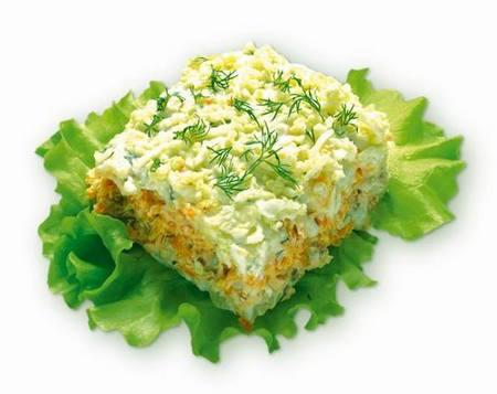 Салат с рыбой - рецепт