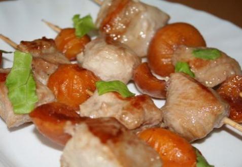 Шашлычок из индейки и абрикосов