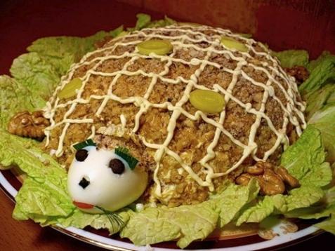 Салат «Черепаха» — рецепт
