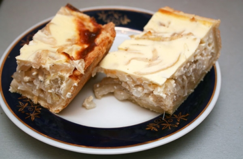 Рецепт - Луковый пирог