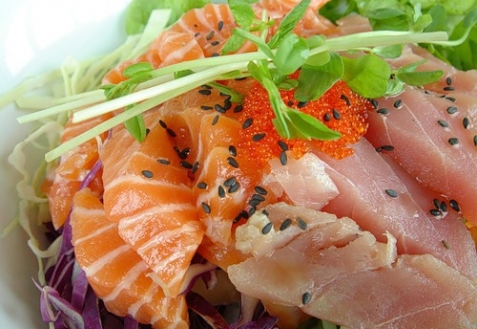 Салат из рыбы фото