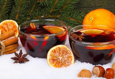 Глинтвейн с имбирем и апельсинами