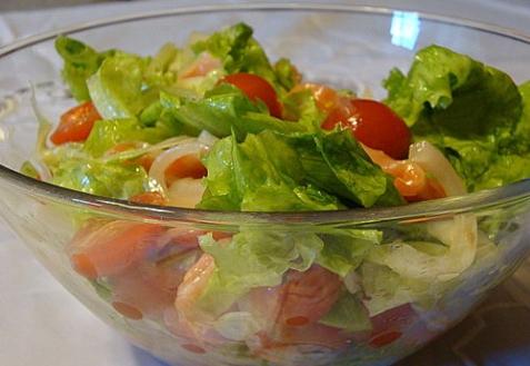 Рецепт - Салат с семгой