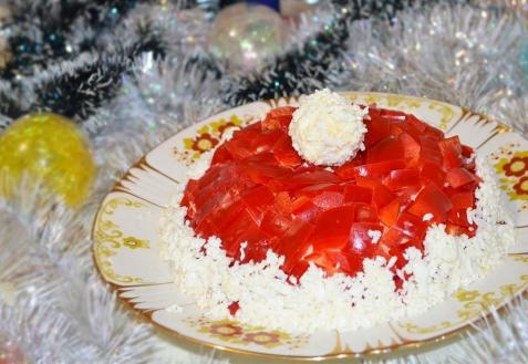 Рецепт на Новый год: Салат «Красная шапочка» (видео)