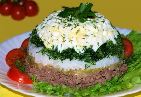 Рецепт - Салат из печени