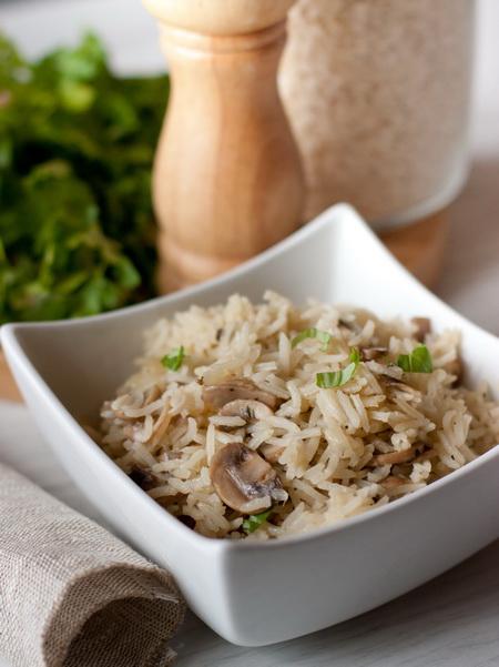 Рисовый пилав с шампиньонами