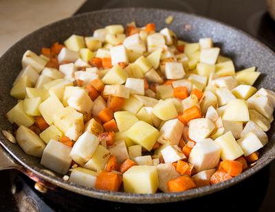 + картофель и сельдерей