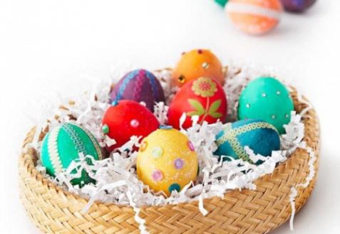 Способы декора пасхальных яиц