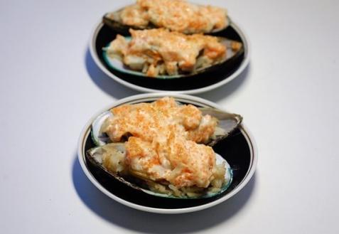 Рецепт - Мидии, запеченные с рисом
