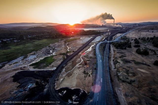 Карабаш, один из самых грязных городов России. дрон, красота, мир, пейзаж