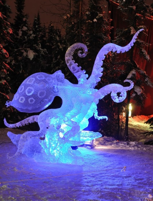 Ледовое творчество мастеров с Аляски