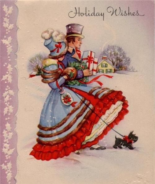 Фото: Винтажные рождественские и новогодние открытки ХХ века (Фото)