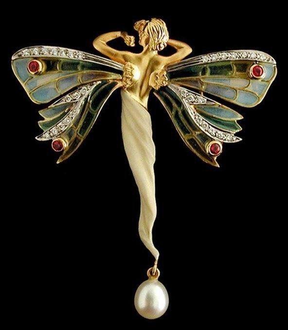 Эльфы в ювелирных украшениях ар-нуво