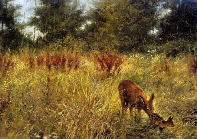 животные в живописи Rien Poortvliet - 06