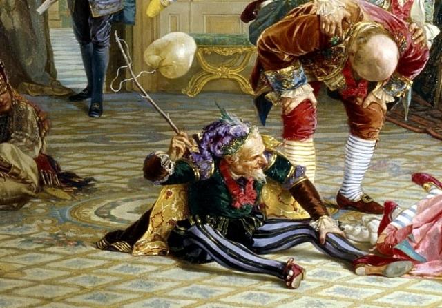 Портрет Яна Лакоста <br>с картины «Шуты при дворе императрицы Анны Иоанновны». Автор: В.Якоби.
