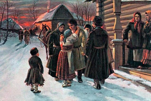 «Прощание рекрута с родителями». Художник И.М. Львов