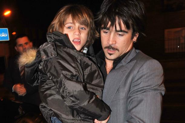 Колин Фаррел с сыном Джеймсом