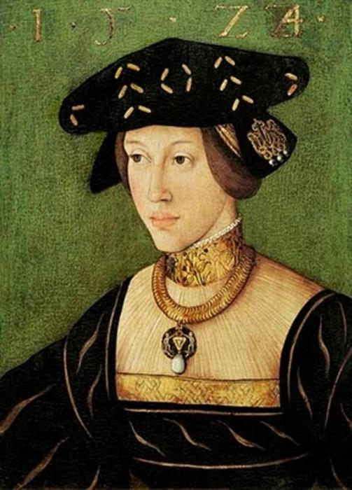 Портрет молодой Марии Венгерской от Ханса Крелля.