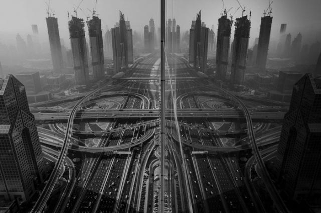 Туман в Дубае, Объединенные Арабские Эмираты. Автор фотографии: Гаанеш Прасад (Ganesh Prasad).