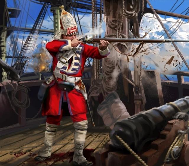 Британский морской пехотинец, 1755 год. | Фото: manulacanette.deviantart.com.