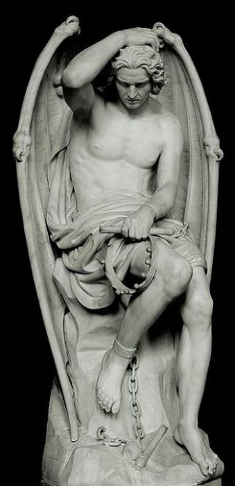 Скульптура Люцифера от Гийома Гейфса