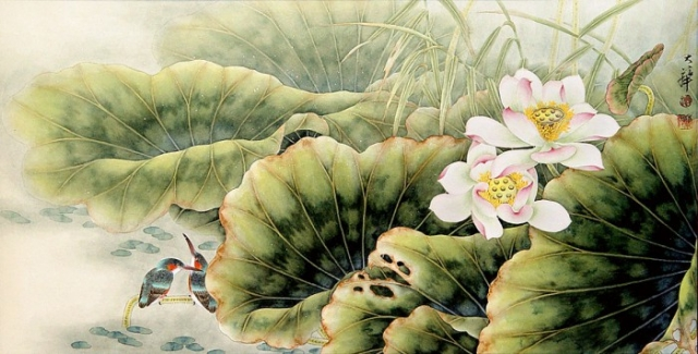 восточные пейзажи Lou Dahua -03
