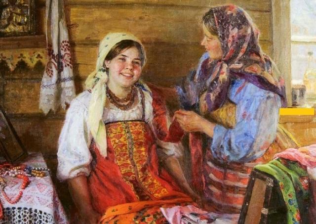 Примерка приданного. Автор: Федот Сычков.