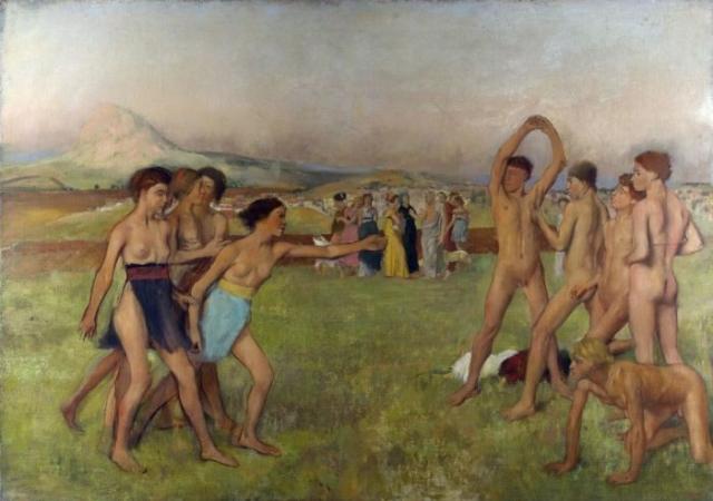 Картина Э.Дега «Юные спартанцы».