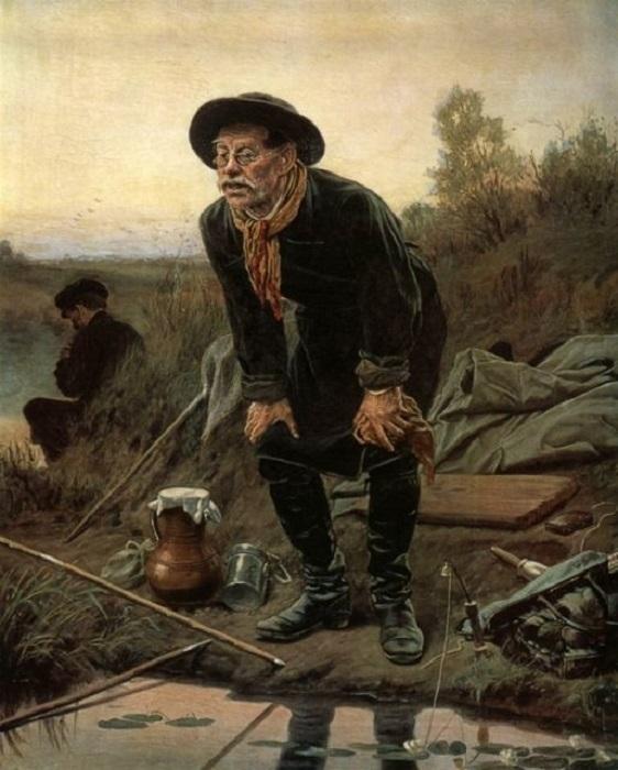 Прекрасная картина художника, в атмосфере которой ощущается счастливая гармония человека и природы.