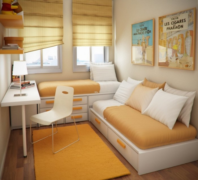 Легкая светлая цветовая тональность придаст уют вашей спальной комнате.