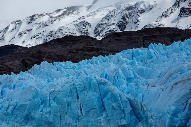 Голубой ледник Грей в Патагонии