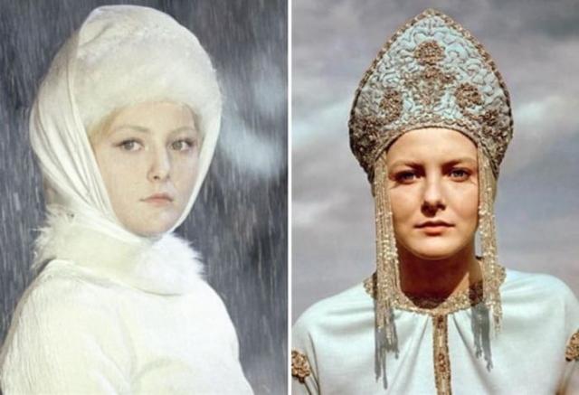 Евгения Филонова в роли Снегурочки | Фото: aif.ru и kp.ru