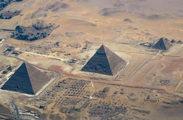 Вид сверху на пирамиды