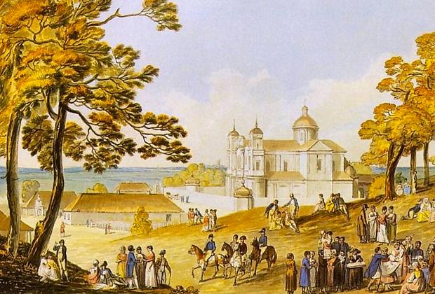 Юзеф Пешка. «Антоколь» 1808 г. Антоколь — один из старейших районов Вильнюса